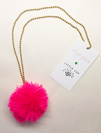 Pom Pom Pink Necklace