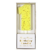 Yellow Number 1 Candle
