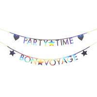 Holographic Silver Letter Garland