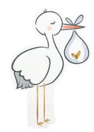 Stork Die Cut Napkins