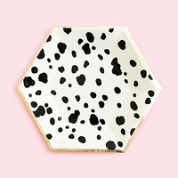 Dalmatian Black and White Plates- Small