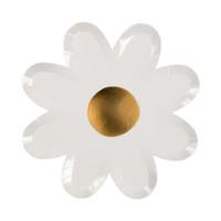 White Daisy Plates