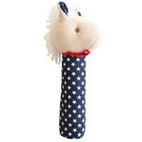 Horse Squeaker- Navy Star