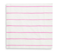Frenchie Striped Napkins- Cerise