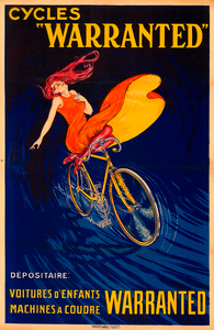 Cycles Warranted Poster Vintage Poster