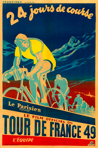 1949 Tour De France Bicycle Poster