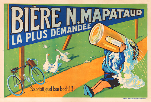 Biere N. Mapataud France Bicycle Poster