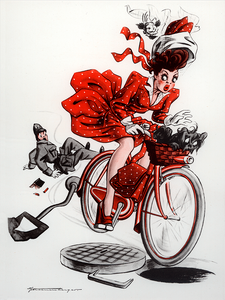 Oops - Swiss Image Bicycle Poster