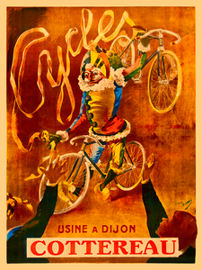 Cycles Cottereau Vintage Bicycle Poster