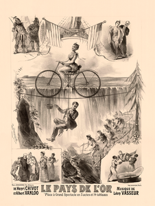 Pays de L'Or Vintage Bicycle Poster by L. Lemaresquier