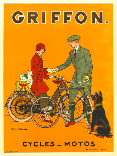 Griffon Cycles-Motos Bicycle Poster by Jean Matet