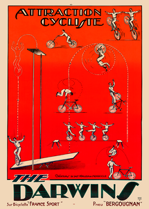 The Darwins Bicycle Poster for Circus act with bicycles