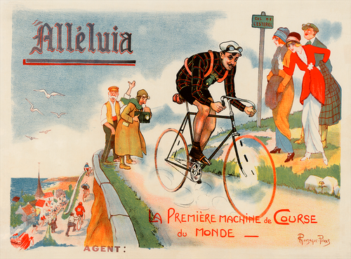 Alleluia Bicycle Poster by Ronzaque Privat