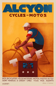 Alcyon Cycles-Motos Poster