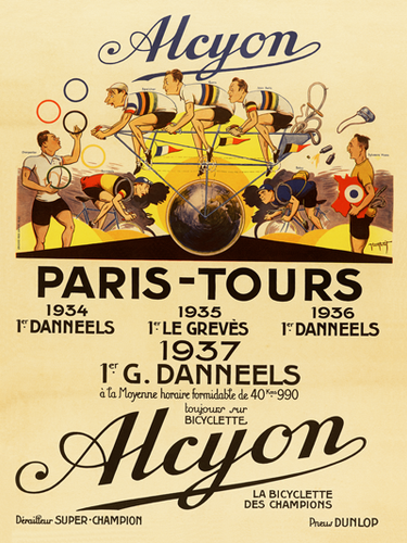 Alcyon - Paris-Tours Poster