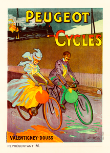 Peugeot Cycles Poster by Lobel-Riche