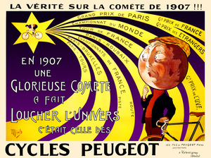 Cycles Peugeot Comete Poster