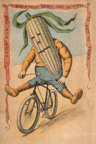 Corn Vegetable Rider Poster