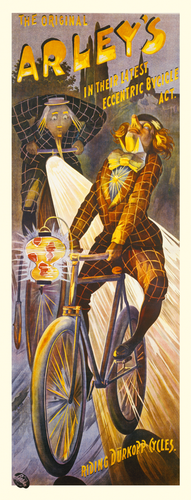 Alleys German Bicycle Poster