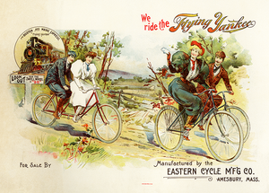 Flying Yankee Bicycle Poster