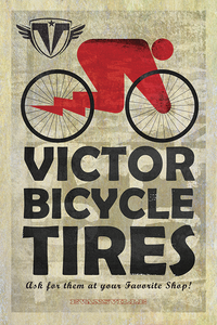 Victor Bicycle Tires by John Evans