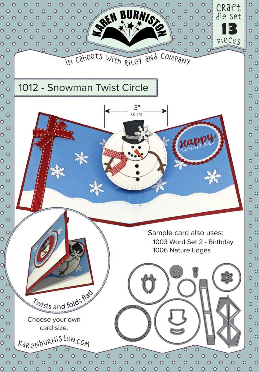 1012 Snowman Twist Circle