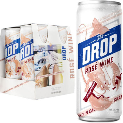 The Drop California Rose Wine NV 4-250ml Cans