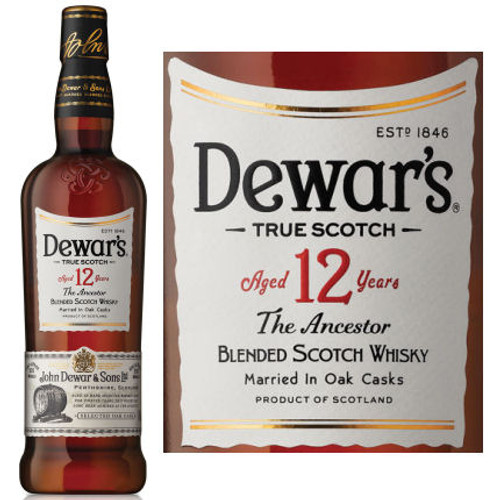 Dewar's 12 Year Old The Ancestor Blended Scotch Whisky 750ml
