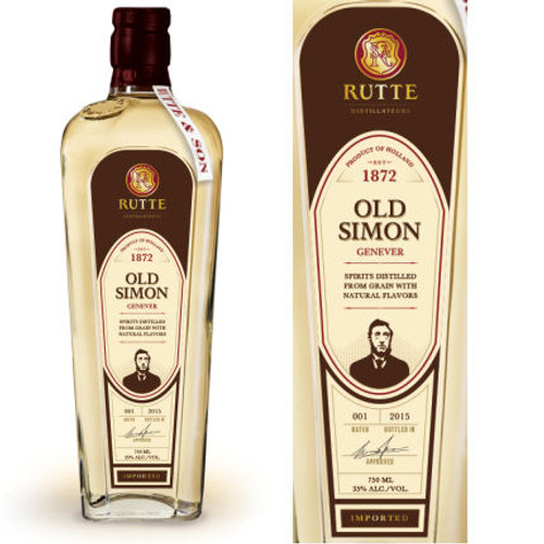 Rutte Old Simon Genever Gin 750ml