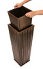 H Potter Small Planter Patio Deck Flower Ribbed Garden Planters Antique Copper Finish