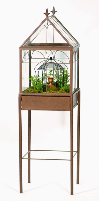 H Potter Square Freestanding Wardian Case Terrarium