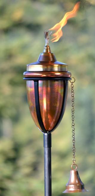 H Potter Copper Rustic Torch