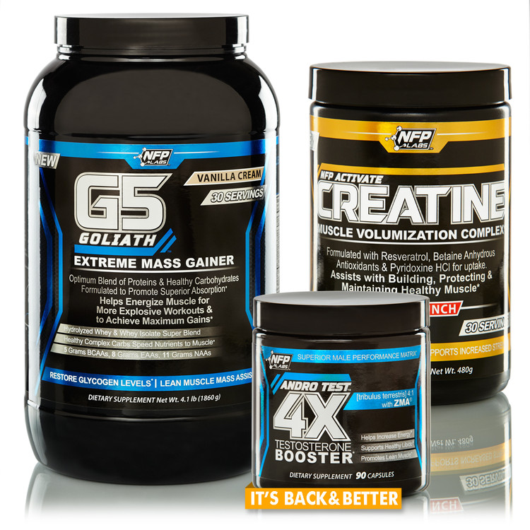 The Gainz Stack is designed for athletes who want to add lean muscle mass. Each product included in this stack has been expertly formulated to help increase muscle size and strength.  Build that lean dense muscle you are working toward and hit that elusive PR. Stack and save on these three products: