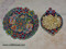 Hand Enamel painted set of earthenware plate & bowl