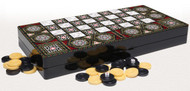 Stunning MDF backgammon 50x50cm, printed backgammon