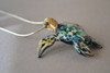 Hawks bill Sea Turtle on Silver pendant chain 18 inches long.
