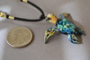 Size of turtle pendant about 1-1/4 inches in length