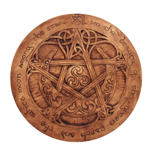 Large Moon Pentacle Plaque