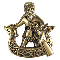 Bronze Norse God Njord Pendant