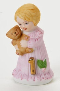 "Growing Up Birthday Girls ""Age 1"" Blonde Figurine"
