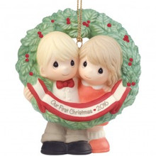 Precious Moments Our First Christmas Dated 2016 Ornament