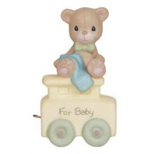 "Precious Moments ""May Your Birthday Be Warm"" For Baby Birthday Train Series Bisque Figurine"