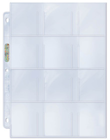 "Ultra Pro 12-Pocket Platinum Page with 2-1/4"" X 2-1/2"" Pockets"