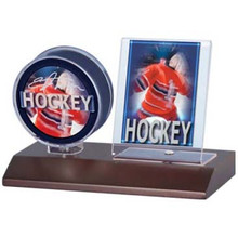 Ultra Pro Dark Wood Base Puck & Card Holder