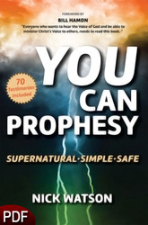 PDF E-Book (DOWNLOAD ITEM) - You Can Prophesy -- by Nick Watson