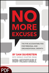PDF E-Book (DOWNLOAD ITEM) - No More Excuses -- by Sam Silverstein