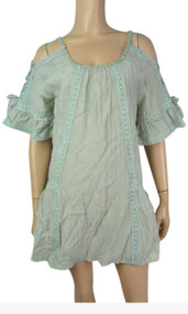 pretty angel Aqua Off Shoulder Tunic
