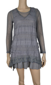 pretty angel Gray Dress Set with pocket