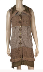 pretty angel Brown button up Vest