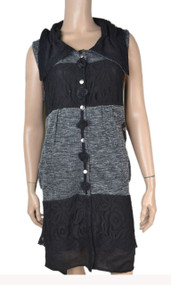 pretty angel Gray button up Vest